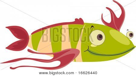 cool fish smiling (vector image also available in portfolio)