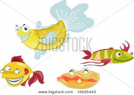 group of fish (vector image also available in portfolio)