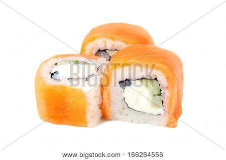 Sushi Isolated  Food Japan Photo On A White Bg