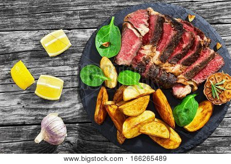 Juicy Rib Eye Beef Steak Medium Rare
