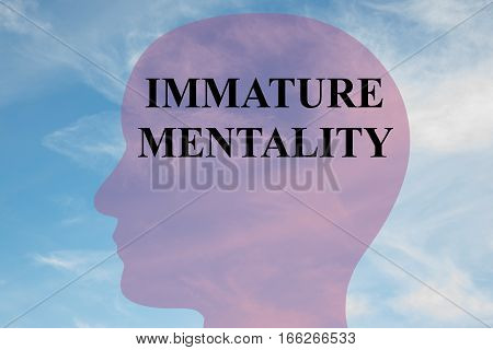 Immature Mentality Concept