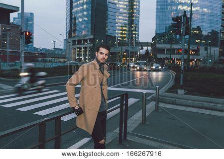 Beautiful Young Man Posing At Dusk