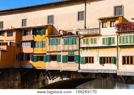 Close Up View Of Ponte Vecchio, Florence, Italy