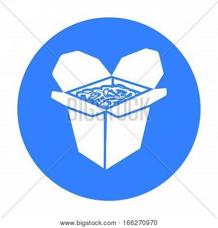 Noodles vector illustration icon in blue design
