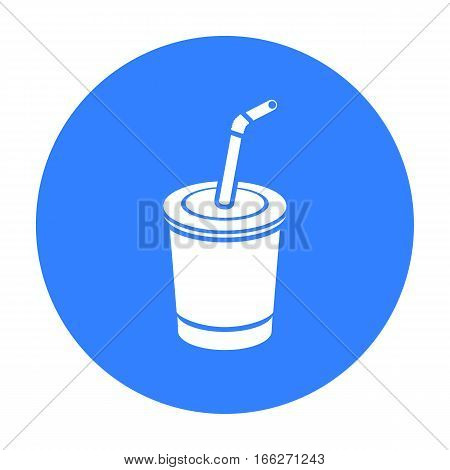 Coca-Cola vector illustration icon in blue design