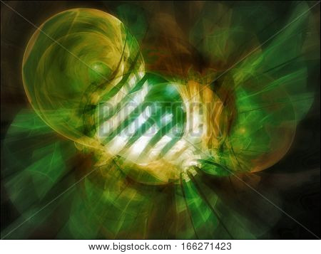 Abstract images depicting what inter-dimensional travel might look like.