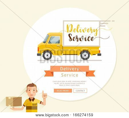 delivery truck icon van service shipping vector cargo transport courier transportation symbol illustration vehicle package business design car deliver fast freight free flat box auto post white background isolated concept distribution commercial sign man