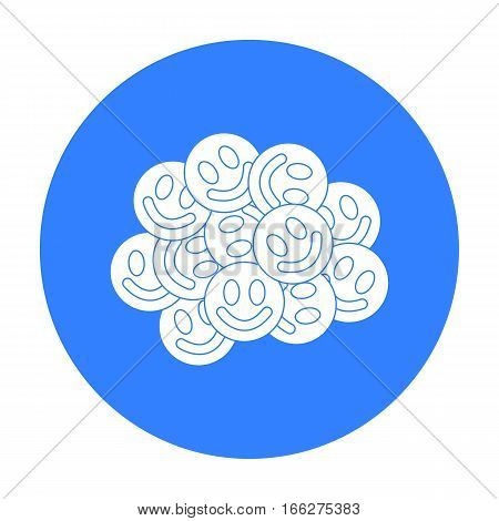 Ecstasy icon in blue style isolated on white background. Drugs symbol vector illustration.