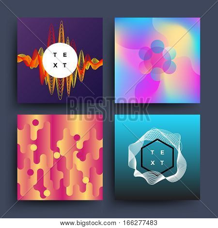 Material, dynamic, motion 2d trendy vector backgrounds. Banner card with dynamic pattern for booklet cover, flyer with colored dynamic for presentation illustration