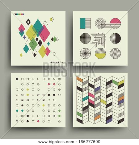 Swiss modernism style trendy music minimalistic 2d vector design for covers, placards, posters, flyers and banner. Card cover in modernism style, illustration of poster for music album