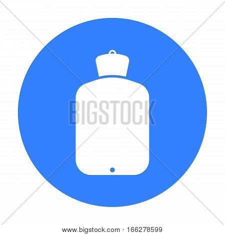 Warmer icon blue. Single medicine icon