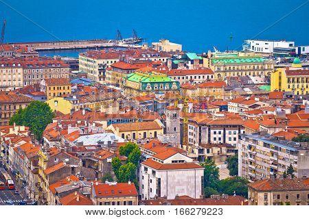City Of Rijeka Waterfront Rooftops View