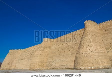 The Ark  Fortress Located In The City Of Bukhara, Uzbekistan