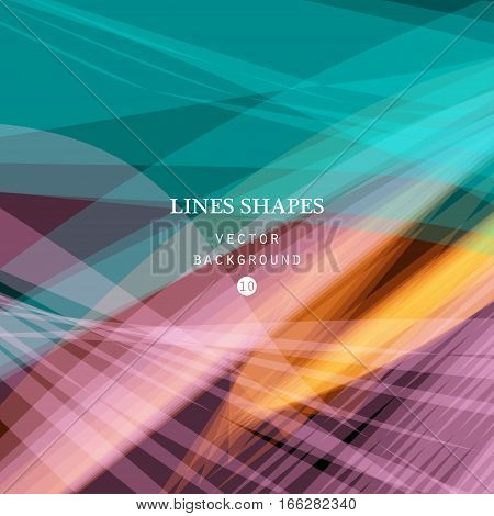 Bright colorful modern striped abstract background vector. Blue pink floral tropical stripes waves lines for banner brochure website and flyer design. Contrast of light shadow and colors