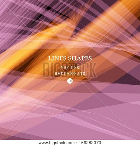 Bright colorful modern striped abstract background vector. Pink orange floral tropical stripes waves lines for banner brochure website and flyer design. Contrast of light shadow and colors