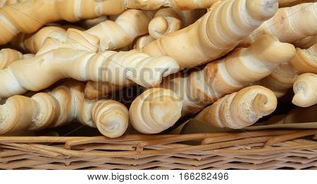Fragrant Bread Shaped Like A Small Horn Typical Of Central Italy