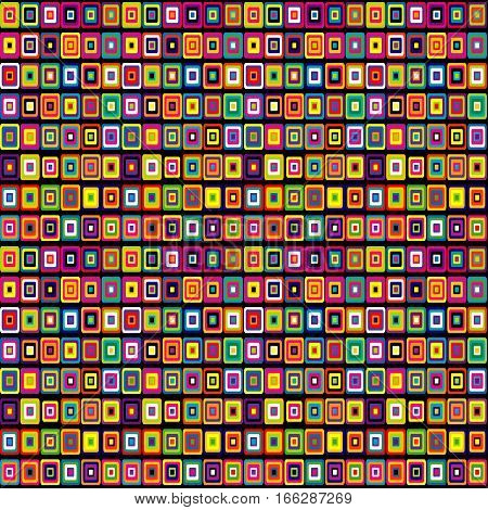 Abstract colorful geometrical seamless background with squares