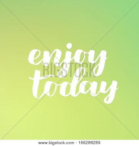 Vector Seasonal Greeting Card Of Hand-written Spring Brush Lettering. Spring Collection White Ink Ao