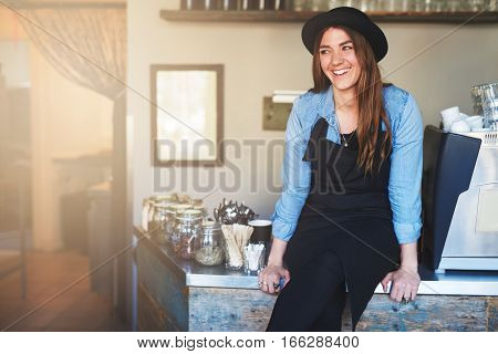 Young Pretty Female Worker In