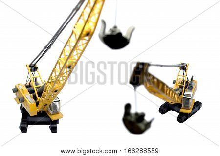 Telescoping Crawler Cranes. telescope, crane truck, construction