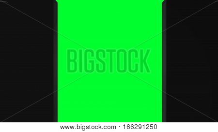 Space opening intro. Abstract background with technology door