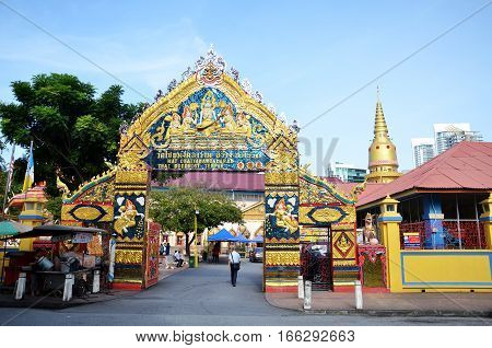Entrance Of Wat Chaiyamangalaram Temple In Penang