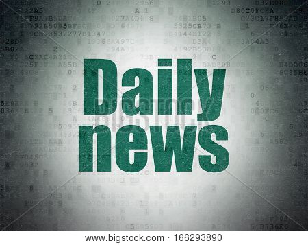 News concept: Painted green word Daily News on Digital Data Paper background
