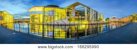 Panoramic view of government district, Berlin, Germany