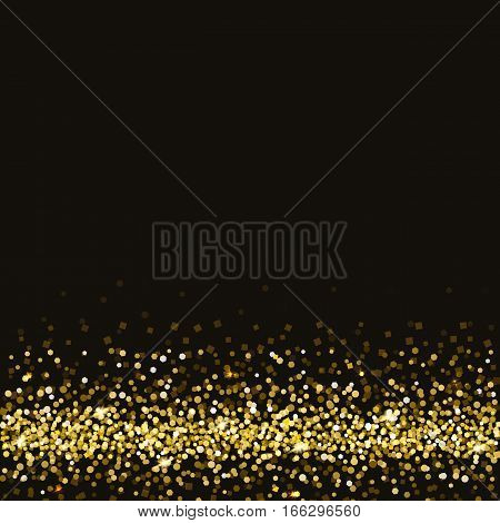 Golden symbol of exclusivity, the label VIP with glitter. Very important person - VIP icon on dark background Sign of exclusivity with bright, Golden glow. Template for vip banners or card