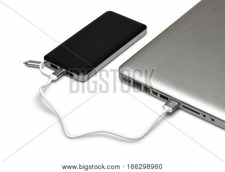 Black Portable External Power Bank