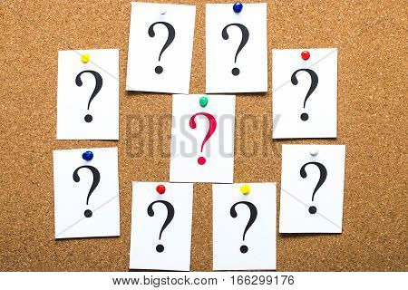 Closeup Shot Of A Lot Of Paper With Question Mark