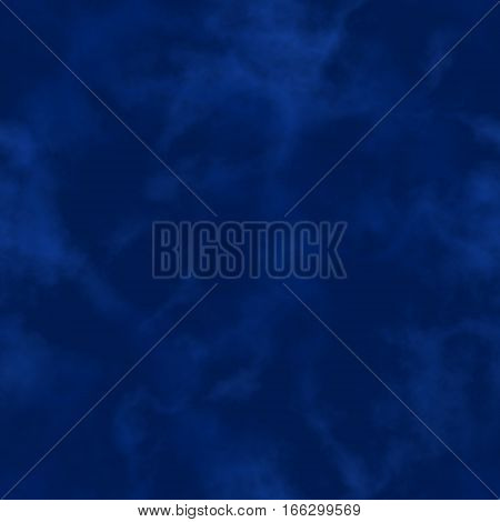 Abstract smoke. Dark blue clouds.  Cloudy pattern. Blurry gas. Steam. Fog.  Foggy texture background. Seamless illustration.