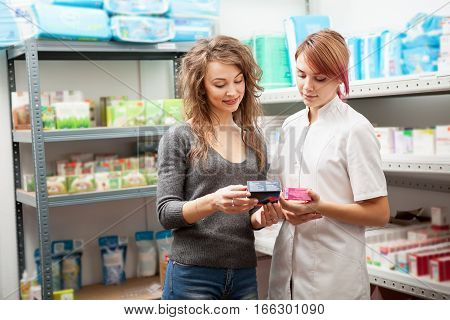 Female Doctor And Client In The Warehouse