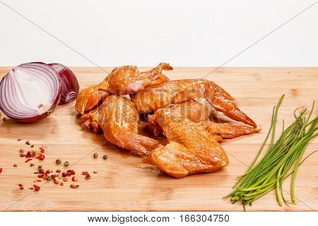 Smoked Or Grilled Chicken (wings) Are On The Board.
