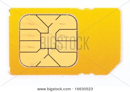 an image of mobile sim card on white