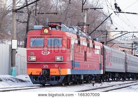 Vladivostok Russia - January 4th 2015: Vladivostok train movement