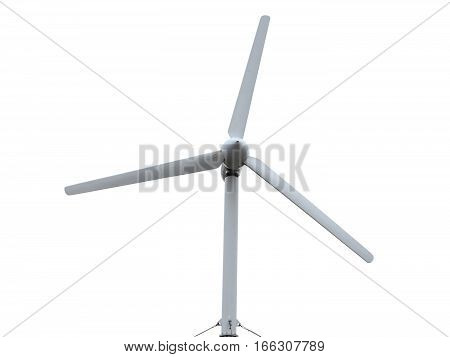 Renewable Energy Concept Wind turbine isolated over white background.