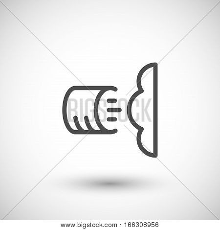 Foam insulation line icon isolated on grey. Vector illustration