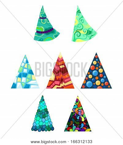 vector illustration with a christmas colorful decorative trees