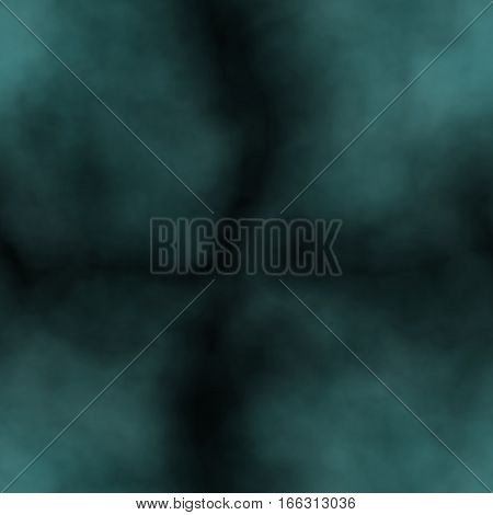Teal blue and black dark abstract smoky pattern