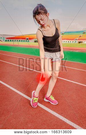 Chinese Jogger With Injured Leg, Throbbing Pain