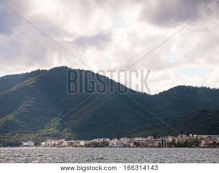 Beautiful scenery of Marmaris city and sea, Turkey