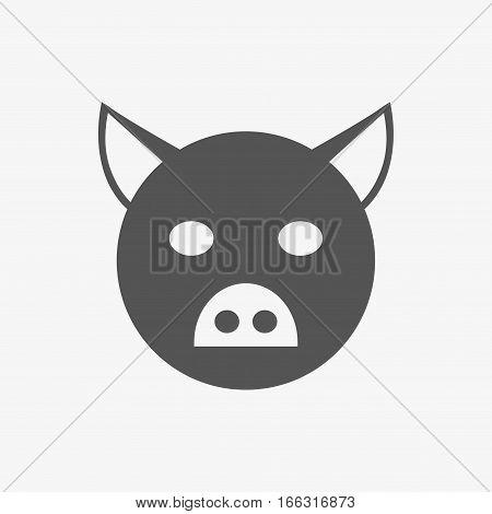 pig icon stock vector illustration flat design