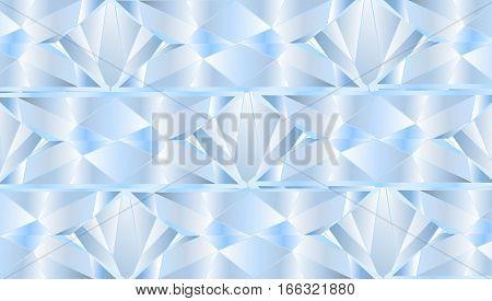 Brilliant diamond blue geometric texture structure vector  background
