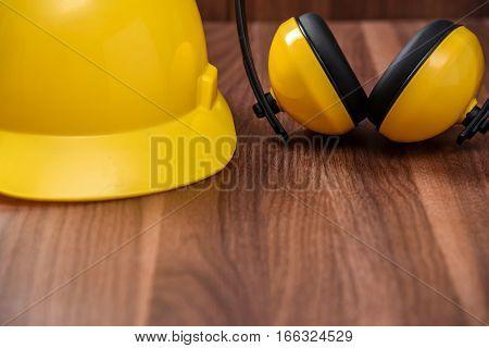 Standard construction safety Gear Kit equipment close up