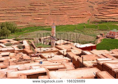 MOROCCO: Amassine village in the Atlas mountains  with Berber architecture