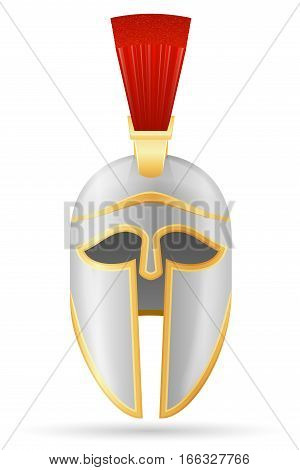 battle helmet medieval stock vector illustration isolated on white background