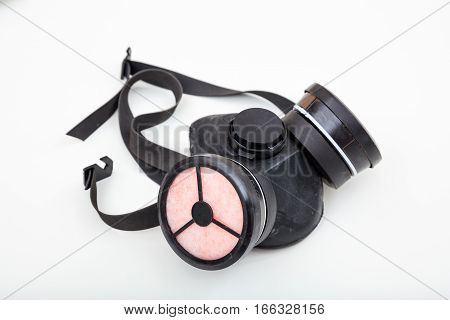 Respiratory Protection Mask On White Background