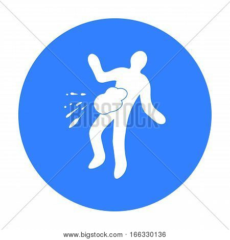 Scene of the crime icon in blue style isolated on white background. Crime symbol vector illustration.