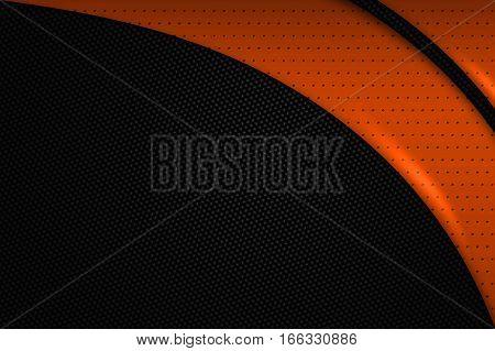 Orange And Black Metal Background